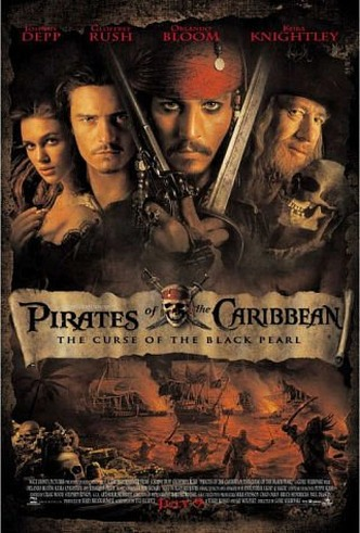 Movie Filter - Pirates of the Caribbean: The Curse of the Black Pearl - Date: 11/1/2003