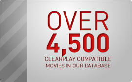 Over 4,500 ClearPlay compatible movies in our database
